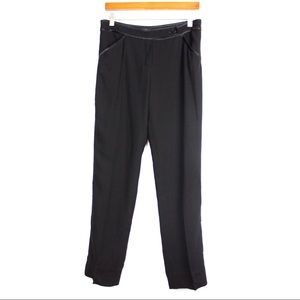 VALENTINO Tuxedo Black Cropped Dress Pants